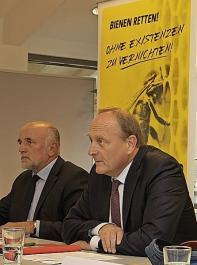 Die beiden Bauernpräsidenten Werner Räpple (links) und Joachim Rukwied sind sich im Einklang mit den Verbandsgremien einig in der Bewertung der Eckpunkte der Landesregierung.