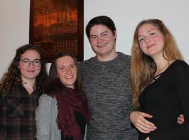 Neu gewählt (von links): Lucia Ketterer (Kassiererin), Vanessa Wolf (stellvertretende Vorsitzende weiblich), Michael Kästner (Pressesprecher) und Esther Fesenmeyer (Beisitzerin).