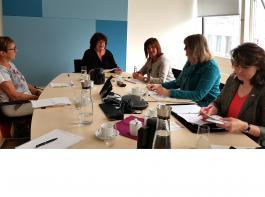 Die Vertreterinnen der Landfrauenverbände aus Baden und Württemberg diskutierten mit Staatssekretärin Bärbl Mielich.
