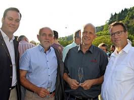 Minister Peter Hauk, WG-Geschäftsführer Udo Opel, BLHV-Präsident Werner Räpple und Felix Schreiner (von rechts) hatten mit Volksbegehren und Klimawandel existenzielle Themen für den Landbau auf der Tagesordnung.