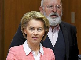 Ursula von der Leyen, Kommissionspräsidentin und Bauherrin des Green Deal, und ihr Architekt dafür, Kommissionsvizepräsident Frans Timmermans.