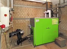 Holzhackschnitzelfeuerungen mit elektrostatischem Stabfilter können hohe Fördersätze erreichen.