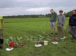 Die Landwirte der Arbeitsgruppe Regenerative Landwirtschaft Hausen haben bereits mit dem Bodenkurs begonnen, in denen ihnen die Grundlagen für einen dauerhaften Humusaufbau vermittelt werden.