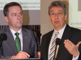 Kontrahenten: Andreas Mundt, Präsident des Bundeskartellamtes (links), und Max Reger, Landesforstpräsident.