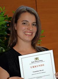 Franziska Merkt schloss als Jahrgangsbeste ab.