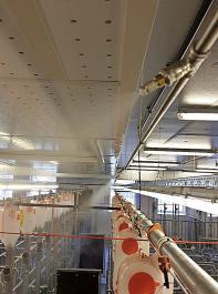 Vor allem im Sauenbereich ist es ratsam,  die Kühlanlage abteilweise zu verbauen. So kann auf die speziellen Klimaanforderungen der Tiere reagiert werden.