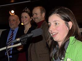 Zusammen mit Werner Räpple, Katrin Schmidt und Franz Benz gratulierte die BBL-Vorsitzende Katharina Dier den Siegern (von links).