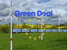 """Mit """"Fit für 55"""" sollen in der EU die Treibhausgasemissionen bis 2030 um mindestens 55 Prozent gegenüber  1990 reduziert werden.  Instrument dazu ist der """"Green Deal""""."""