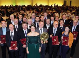Strahende Gesichter bei den Preisträgern der Landesweinprämierung