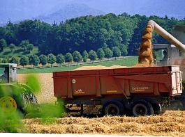 Die Getreideernte im Land ist angelaufen.