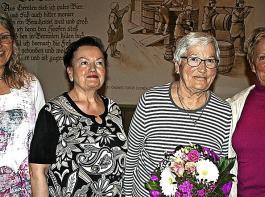 Für ihre langjährige Treue wurden einige Ihringen  Landfrauen geehrt.