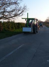 Grünes Kreuz unterwegs: Auch von Südbaden aus laufen Staffelfahrten mit Traktoren zur Bauernkundgebung in Berlin am 26. November.