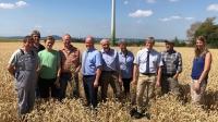 Die Teilnehmer des Erntepressegesprächs am 23. Juli 2018 in Schauenburg-Martinhagen