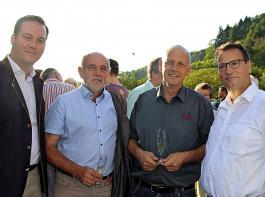 Felix Schreiner,  Werner Räpple, Udo Opel und   Peter Hauk (von links)   zeigten sich über die  möglichen Folgen des Volksbegehrens besorgt.