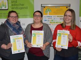 Sieger der Sparte Hauswirtschaft: Lina Braun, Carina Maier, Natalie Bloos (v.l.)