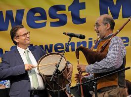 Die Trommel für die Landwirtschaft rührten Landwirtschaftsminister Peter Hauk und Bernhard Bitterwolf.
