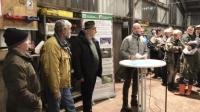 die Redner des Abends von rechts nach links: Volker Lein, Armin Müller, Hubertus Dissen