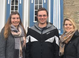 Melanie Mennicke, Timo Manger und Charlotte Mark (von links) waren vom Lehrzentrum beeindruckt.