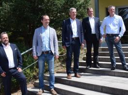 Das neue Präsidium ist gewählt (von links): Stephan Danner, Martin Schmidt, Präsident Rainer Zeller, Thomas Walz, Martin Linser.