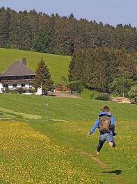 Sonne und tolle Schwarzwaldwiesen animieren zu Luftsprüngen.