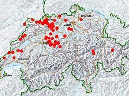 In der Schweiz wurden seit Oktober dieses Jahres   60 Fälle von Blauzungenkrankheit festgestellt.