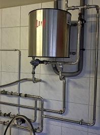Ein Rohrkühler ist sehr einfach sauber zu halten.