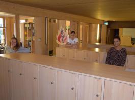 In der Geschäftsstelle des BBL halten sich Silvia Kaiser, Ralph Asal und Lena Mahler (von links) an den vorgeschriebenen Abstand. Die anderen Kollegen arbeiten im Homeoffice.