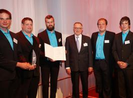 Gerhard Klausmann, Jonas Kaufmann, Fabian Dörle, Tobias Selinger und Felix Wentz nahmen den Gerd-Sonnleitner-Preis entgegen.