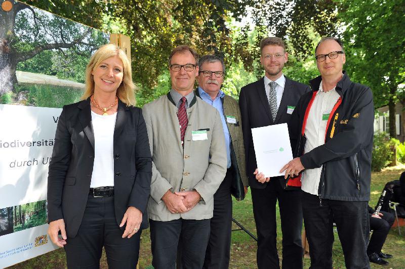 Klosterwald mit Biodiversitätspreis ausgezeichnet