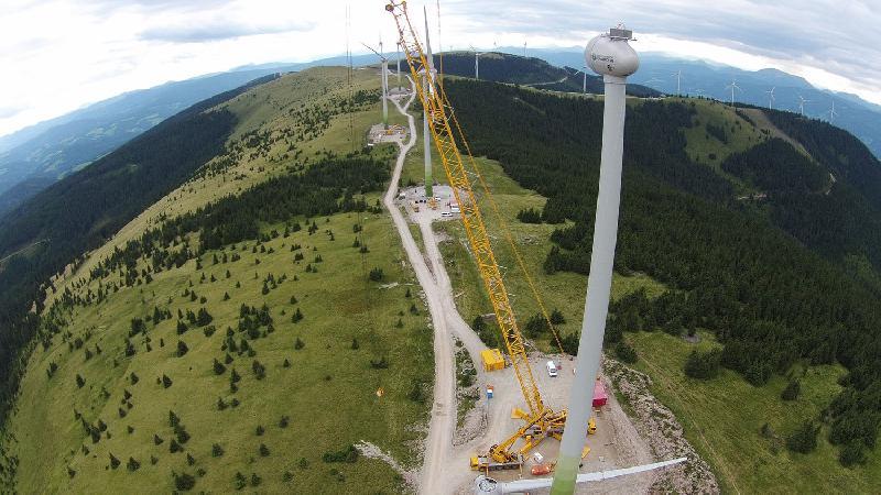 Österreichische Bundesforste: Windparkbau Pretul liegt im Plan