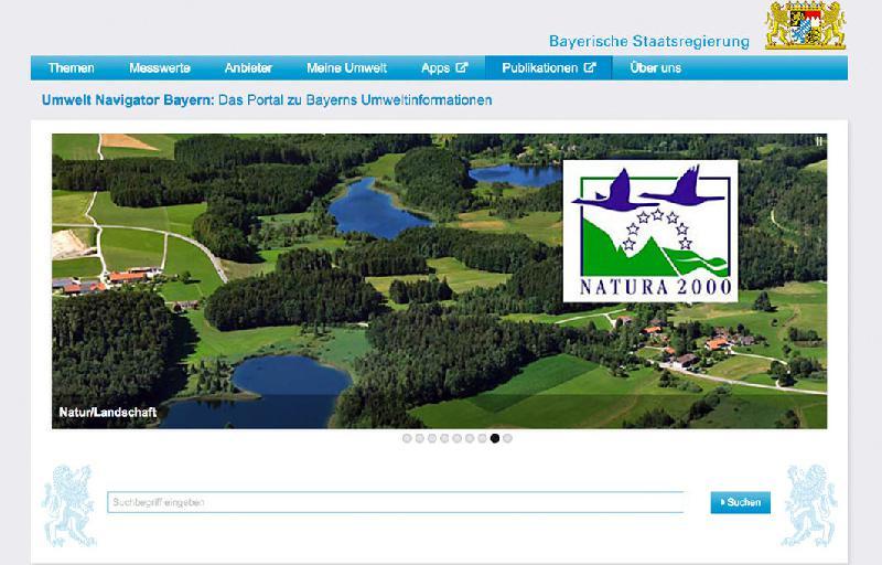 Neues Portal Umwelt Navigator Bayern freigeschaltet