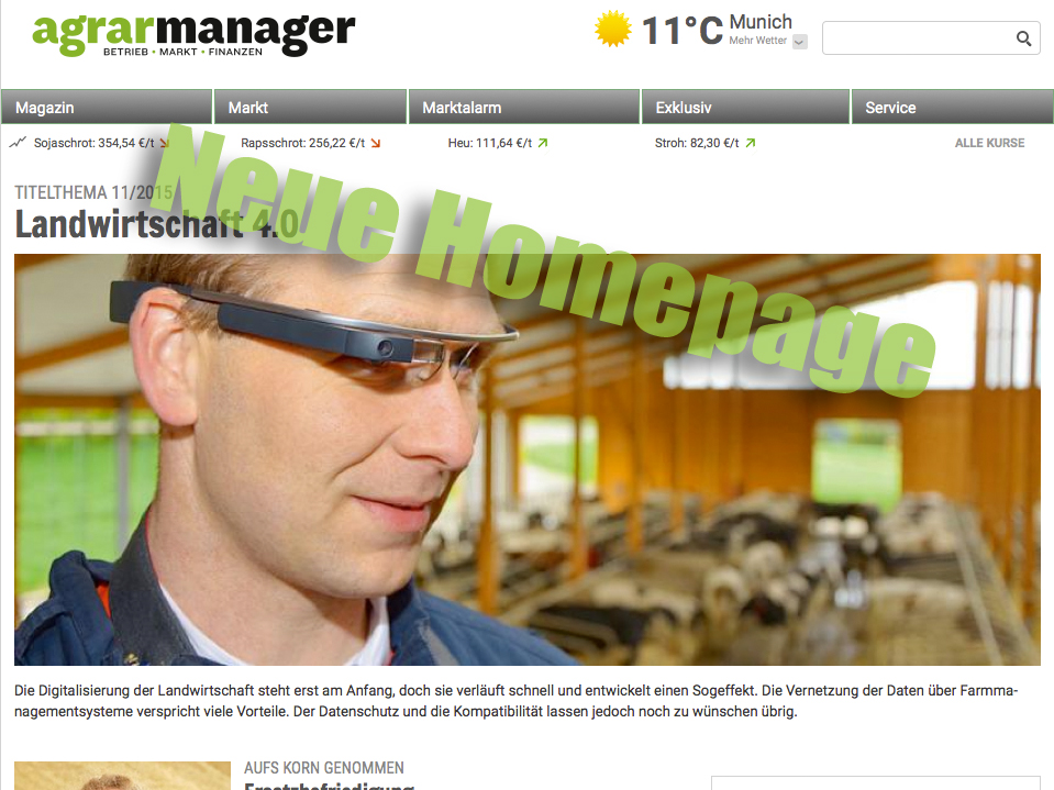 agrarmanager mit neuer Homepage