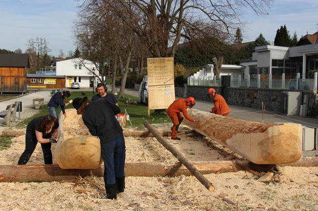 Pfahlbau am Attersee: Vom Baumriesen zum Rieseneinbaum