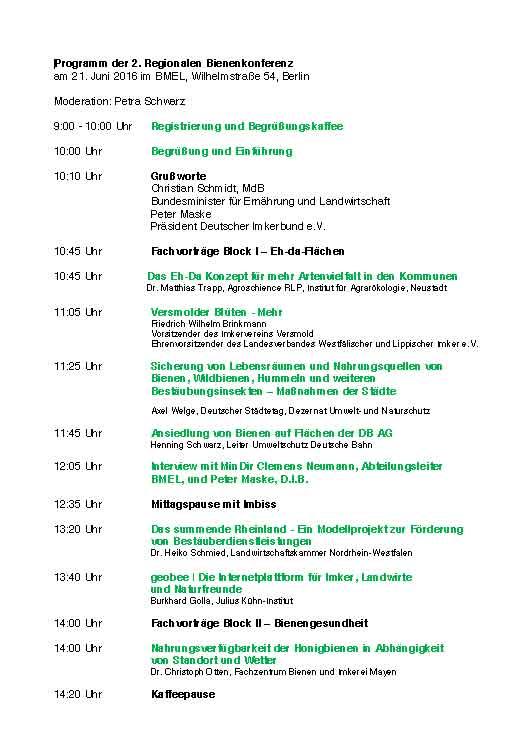 2. Regionalkonferenz des Bundesministeriums zum Bienenschutz